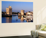 Boats, Vieux Port, Tour Saint-Nicolas, Tour De La Chaine, La Rochelle, France Wall Mural by David Barnes