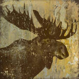 Lodge Moose Prints by Stephanie Marrott