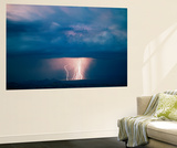 Thunderstorm over Cathedral Valley, Utah, USA Wall Mural by Scott T. Smith
