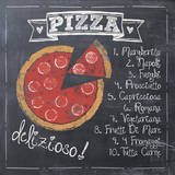 Pizza Print by Jo Moulton