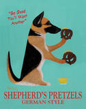 Shepherd's Pretzels Art by Ken Bailey