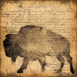 Lodge Buffalo Poster von Stephanie Marrott