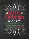 Wir wünschen dir fröhliche Weihnachten! Poster von Stephanie Marrott