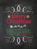 We Wish You a Merry Christmas Posters by Stephanie Marrott