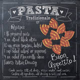 Pasta Recipe Poster by Jo Moulton