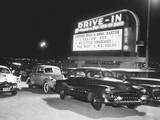 Cars at a Drive-In Theater Posters