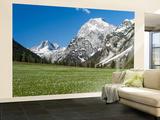 Spring-Crocus, Karwendel Range, Falzthurntal, Mt Lamsenspitze, Mt Sonnjoch, Bavaria Wall Mural – Large by Martin Zwick