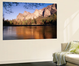 Bridalveil Fall with Cathedral Rocks, Yosemite National Park, California, USA Wall Mural by Adam Jones