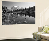 Mt Shuksan with Picture Lake, Mt Baker National Recreation Area, Washington, USA Wall Mural by Stuart Westmorland