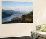 View of Crown Point at Dusk, Columbia Gorge, Oregon, USA Wall Mural by Walter Bibikow