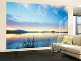 View of Bear River at Dusk, Cache Valley, Great Basin, Utah, USA Wall Mural – Large by Scott T. Smith
