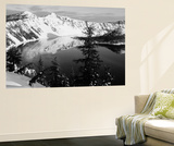 Snow-Covered Mountains with Crater Lake, Crater Lake National Park, Oregon, USA Wall Mural by Paul Souders