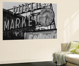 View of Public Market Neon Sign and Pike Place Market, Seattle, Washington, USA Wall Mural by Walter Bibikow