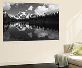 Mt Shuksan with Baker Lake, North Cascades National Park, Washington, USA Wall Mural by Adam Jones