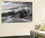 Teton Park Road and Teton Range, Grand Teton National Park, Wyoming, USA Posters by Adam Jones