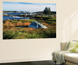 View of Sea with Coastline, Nova Scotia, Canada Posters by Greg Probst