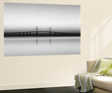 Sunshine Skyway Bridge over Tampa Bay from Fort De Soto Park, Florida, USA Wall Mural by Adam Jones