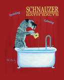Schnauzer Bath Salts Poster by Ken Bailey