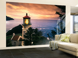 View of Heceta Head Lighthouse at Sunset, Oregon, USA Wall Mural – Large by Stuart Westmorland