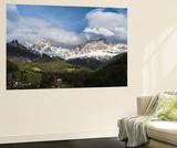 Rosengarten or Catinaccio Mountains, Schlern-Rosengarten, Dolomites, Italy Wall Mural by Martin Zwick