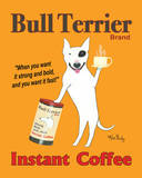 Reklama kawy Bull Terrier, angielski Poster autor Ken Bailey