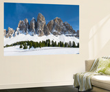 Geisler Mountains, Valley Villnoess, Dolomites, South Tyrol, Italy Poster af Martin Zwick