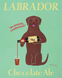 Lab Chocolate Ale Art by Ken Bailey