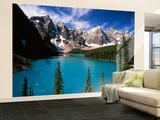 Wenkchemna Peaks Reflected in Moraine Lake, Banff National Park, Alberta, Canada Fototapete – groß von Adam Jones