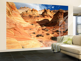 Sandstone Formations at Coyote Buttes Area, Paria Canyon, Arizona, USA Wall Mural – Large by Adam Jones