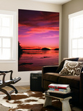 View of Beach at Sunset, Vancouver Island, British Columbia Plakater af Stuart Westmorland