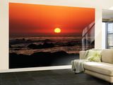 View of Beach at Sunset, Pacific Grove, Monterey Peninsula, California, USA Wall Mural – Large by Stuart Westmorland