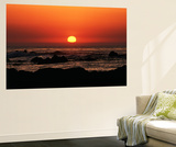 View of Beach at Sunset, Pacific Grove, Monterey Peninsula, California, USA Wall Mural by Stuart Westmorland