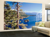 View of Lake Tahoe and Emerald Bay in Morning, California, USA Wall Mural – Large by Walter Bibikow