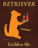Retriever Golden Ale Prints by Ken Bailey