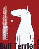 Bull Terrier Tee Kunstdrucke von Ken Bailey
