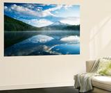 Trillium Lake, Mt Hood National Forest, Mt Hood Wilderness Area, Oregon, USA Kunst af Adam Jones