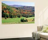 View of Peacham Hills in Autumn, Northeast Kingdom, Vermont, USA Posters by Walter Bibikow