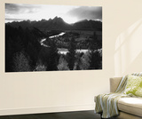 Snake River with Teton Range at Sunset, Grand Teton National Park, Wyoming, USA Plakater af Adam Jones