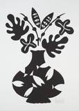 Vase III Black Poster von Marco Del Re