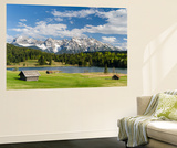 Karwendel Mountain Range, Mittenwald, Lake Wagenbruch, Bavaria Plakater af Martin Zwick