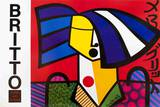 Japanese Woman Collectable Print by Romero Britto