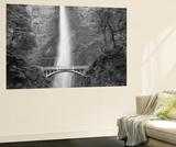 Bridge, Multnomah Falls, Columbia Gorge, Oregon, USA Poster af Walter Bibikow