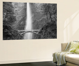Bridge, Multnomah Falls, Columbia Gorge, Oregon, USA Poster by Walter Bibikow