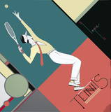 Tennis Collectable Print by  Lepas