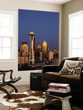 Space Needle at Dusk, Seattle, Washington, USA Plakater af Adam Jones