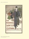 For Fashionable Winter Clothing Collectable Print by Louis J. Rhead