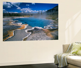 View of Hot Springs at Yellowstone National Park, Wyoming, USA Posters by Scott T. Smith