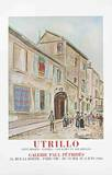 Rue Cortot a Montmarte Collectable Print by Maurice Utrillo