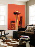 View of Space Needle and Seattle Buildings, Seattle, Washington, USA Plakater af Stuart Westmorland