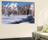 Grand Teton National Park Covered in Snow, Wyoming, USA Plakater af Scott T. Smith